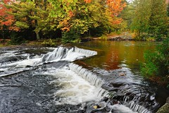 Bond Falls  Ontonagon River, Paulding, Michigan by Michigan Nut