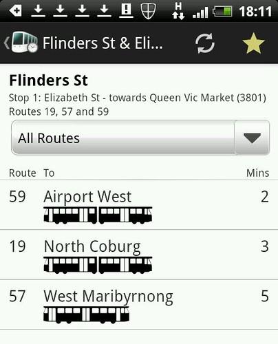 Tram Hunter: Which tram is heading up Elizabeth Street first?