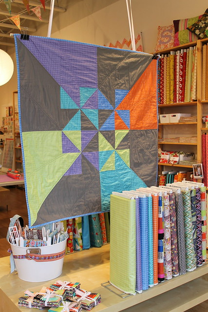 mirror ball dots pinwheel quilt