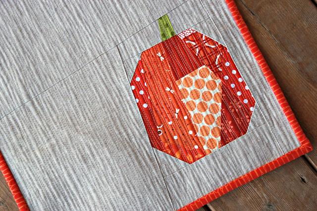 a fall mini quilt.