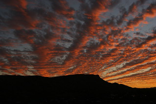Sunset over Mount Gillen, Alice Springs