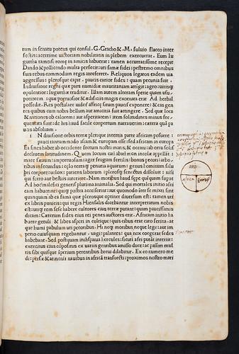 Manuscript diagram in Sallustius Crispus, Gaius: Opera