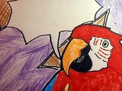 Geburtstagskarte Papagei