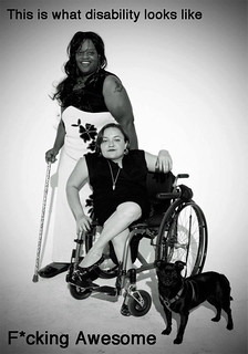 badass lady wheelchair user and badass cane user