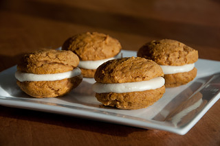 Pumpkin Spiced Whoopie Pies with Maple Mascarpone Filling from Fact Woman blog