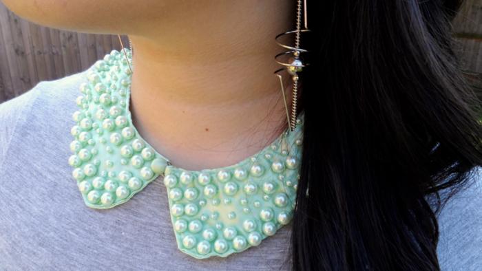 h&m pearl collar