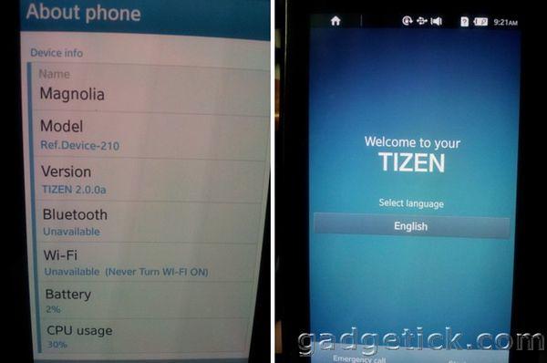 Samsung на Tizen 2.0