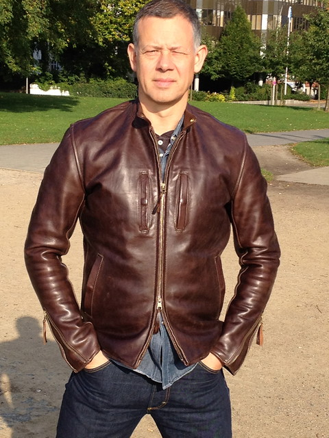 aero cafe racer in brown oil pull horse hide | the fedora lounge