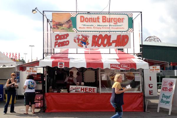 krispy kreme donut burger stand