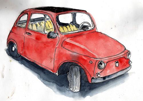 Portrait mécanique - Fiat 500 by Stéphane Feray