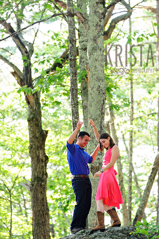Lake Ossipee engagement session