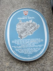 Photo of Cardiff  County Gaol and Dic Penderyn blue plaque