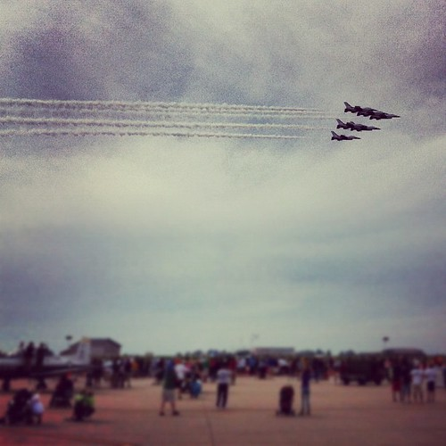 Awesome air show. Unless you, like Cora, are afraid of loud noises.
