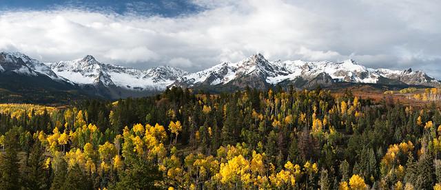 Autumn Panorama, Sneffels Range