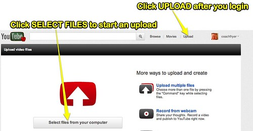 Select video file for YouTube upload