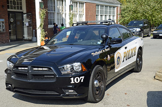 Picture Of  Town Of Harrison NY Police Department Car 107 - 2011 Dodge Charger Taken At Their Open House On Saturday October 6, 2012