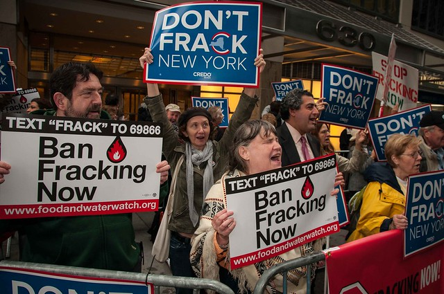 Anti fracking protest in NYC