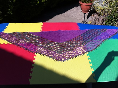 Suki shawl drying in warm fall sun. by BlueDragon2