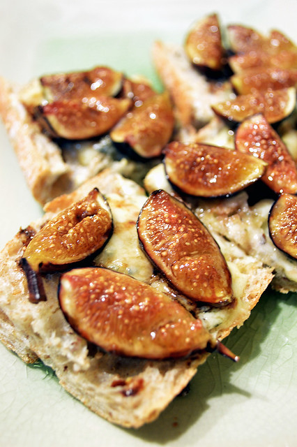 Figs and Stilton Cheese on Toast