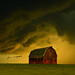 Barn in the rain # 548 by Mike Linnihan