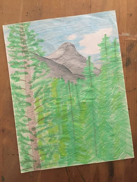 I've always loved to draw! Colored pencil drawing from 6th grade #drawing #landscape https://t.co/WkhGEuvN17