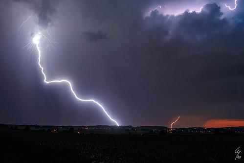 Coups de foudres - CG lightnings - 27/08/2016 - Wideumont (BE)