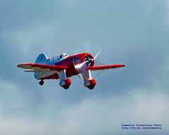 Overcast and Red & White Gee Bee Racer