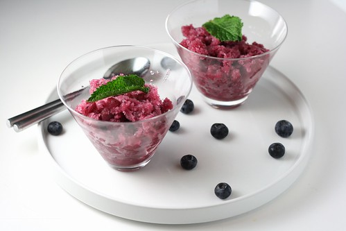Blueberry Cucumber Granita