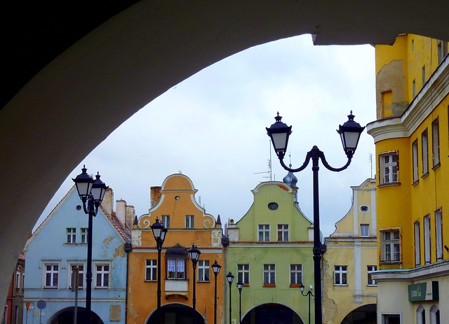 Old market square of Jawor, Poland