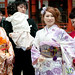 Japanese Women in Kimonos at Wedding - Itsukushima Shinto Shrine, Miyajima
