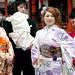 Japanese Women in Kimonos at Wedding - Itsukushima Shinto Shrine, Miyajima