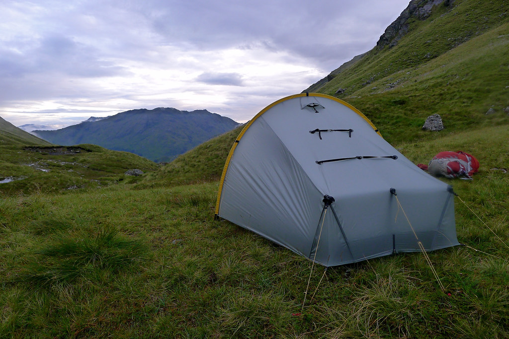 Camped above Glen Finnan