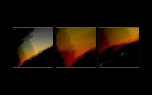 light sunset portugal night sequence longexposition