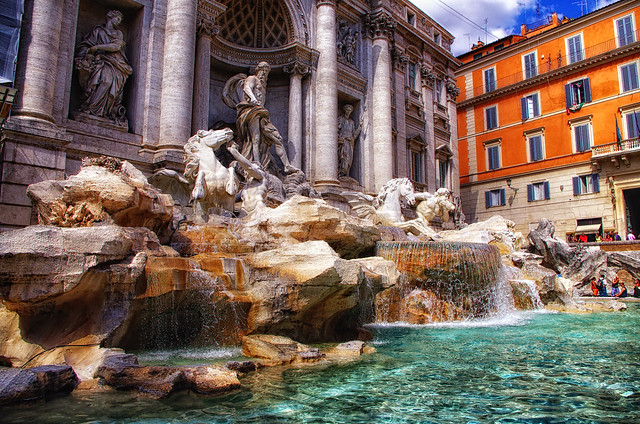 Italy Rome Di Trevi August 2012