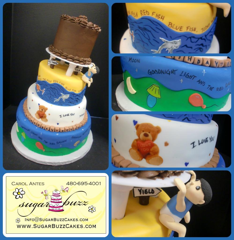 Nursery Rhymes 1st Birthday Cake