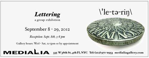 Medialia gallery Lettering exhibit