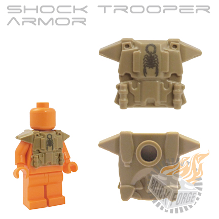Shock Trooper Armor - Dark Tan (steel scorpion emblem)