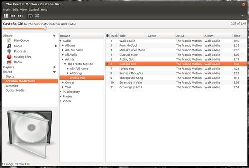 Rhythmbox and Grilo 0.1