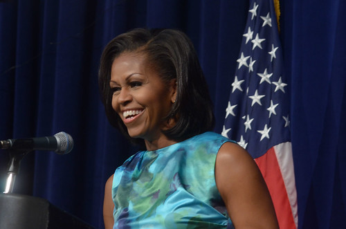 Michelle Obama speaks to the African American Caucus