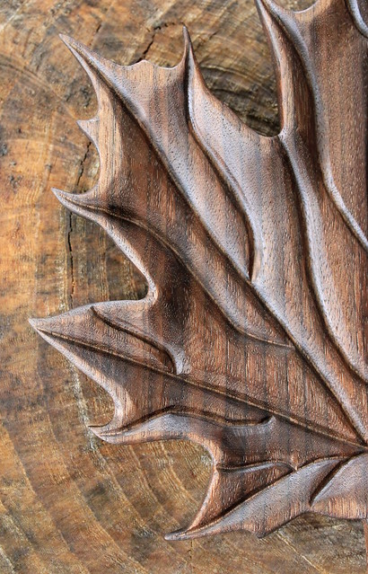 Hand carved maple leaf flickr photo sharing