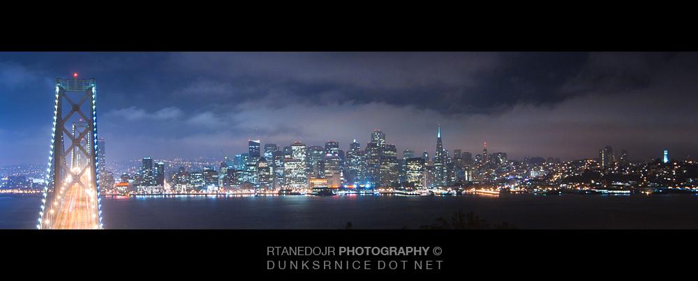Bay Bridge Night, San Francisco.