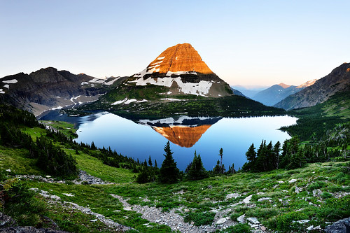 Panoramic Hidden Lake - Glacier National Park