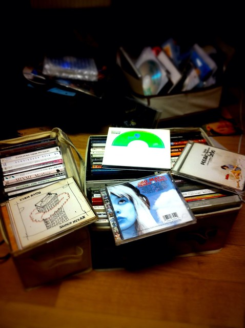 The pile of CDs I have been talking about the past day.