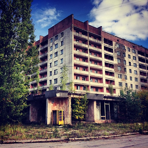 Abandoned apartment block #chernobyl