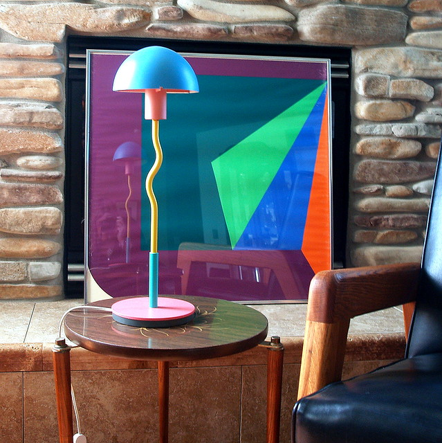 POST MODERN DESIGN Vintage Mod Table Lamp 1980s Made In