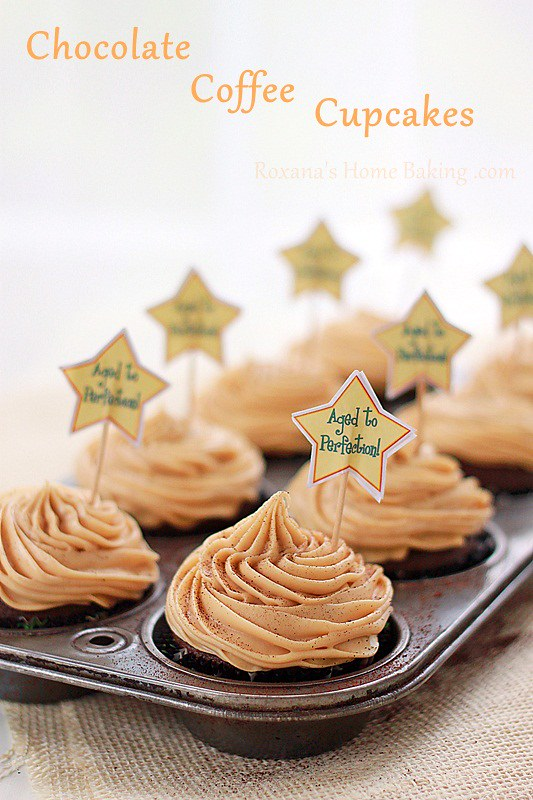 chocolate coffee cupcakes | Roxanashomebaking.com