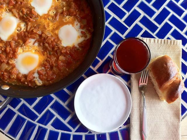 Shakshuka Breakfast Overhead