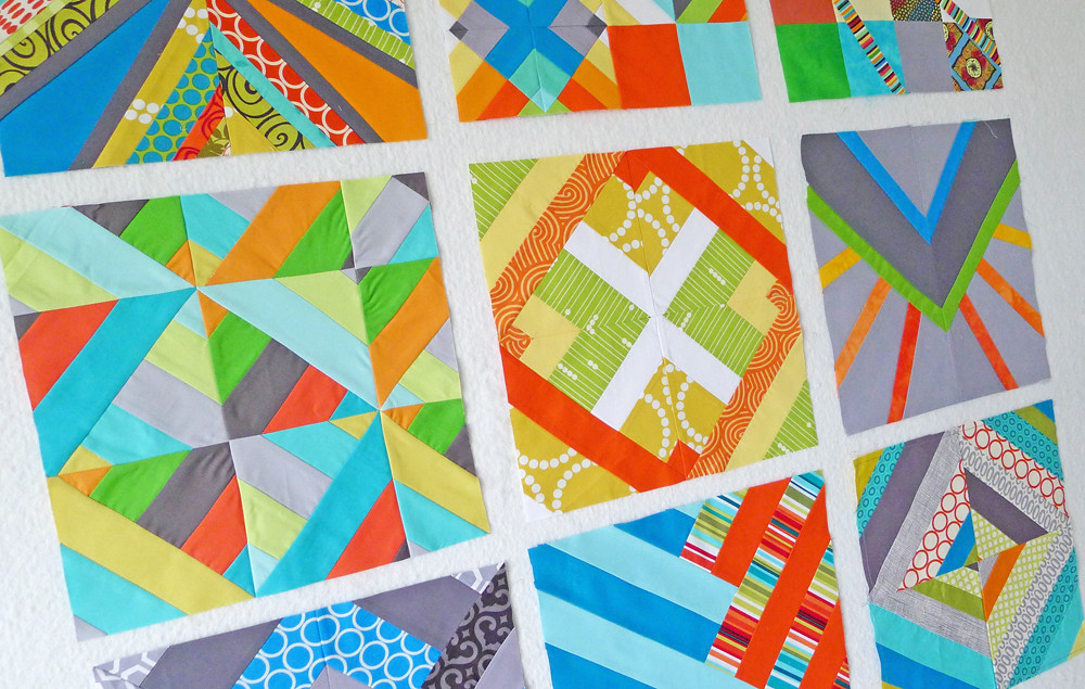 QuiltCon Block Challenge: Graphic Stripes and Angles