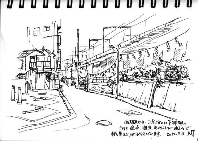 西大井駅から下神明へ