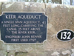 Photo of John Rennie and Keer Aqueduct blue plaque